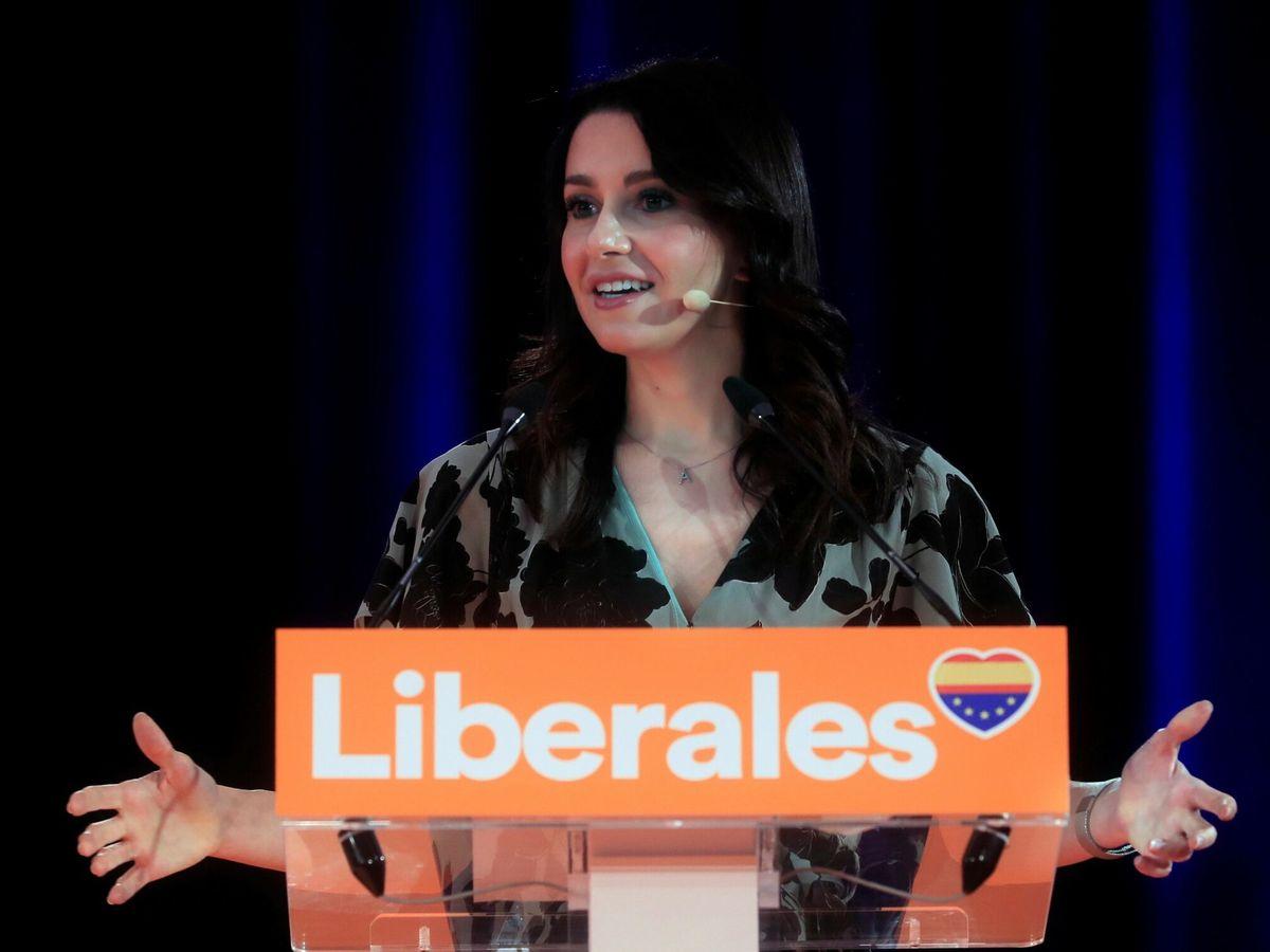 Foto: Inés Arrimadas en la convención nacional del partido. (EFE)