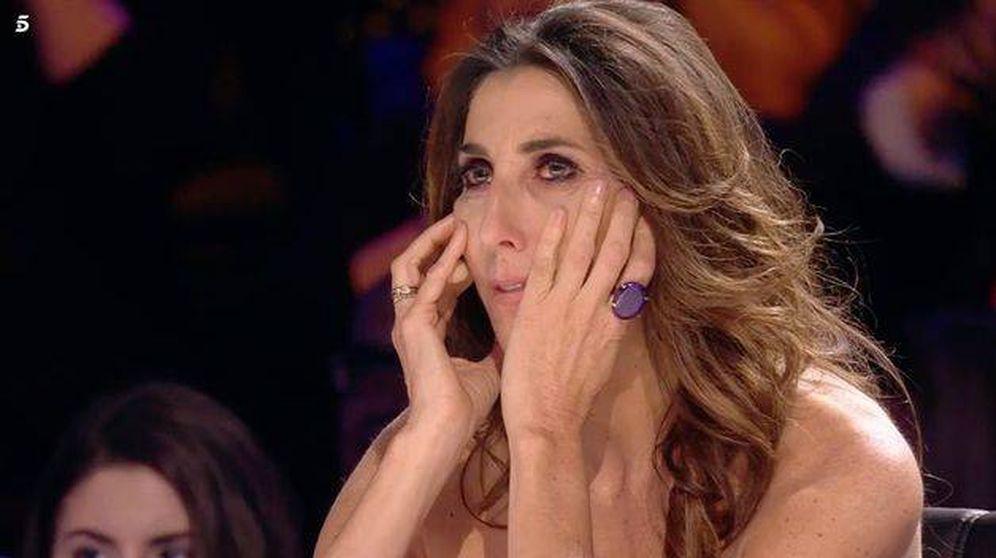 Foto: Paz Padilla, sufriendo en 'Got Talent España'. (Telecinco)