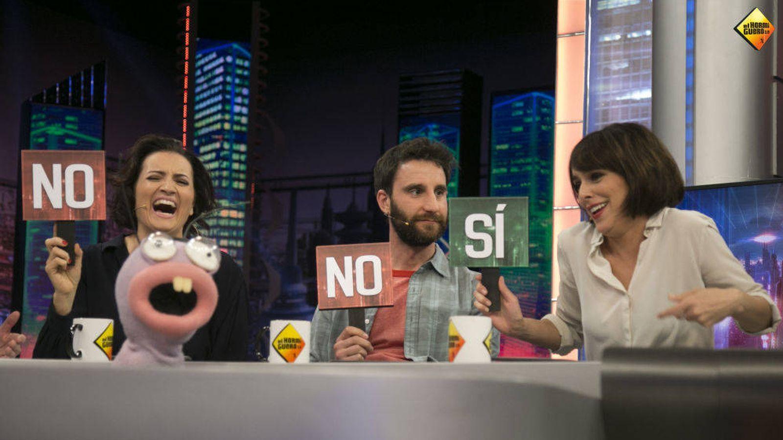 Foto: Silvia Abril, Dani Rovira y Belén Cuesta, en 'El hormiguero'. (Atresmedia)