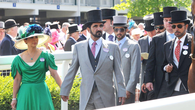 Haya de Jordania y el emir de Dubái, en las carreras de Ascot, a las que no solían faltar. (Getty)