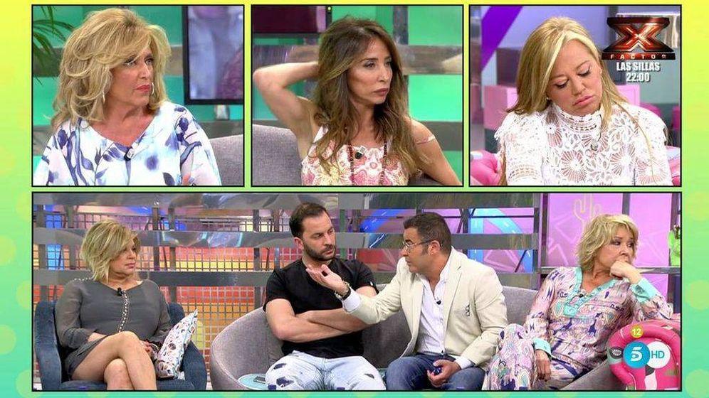 Foto: Jorge Javier junto a los colaboradores de 'Sálvame' (Telecinco)