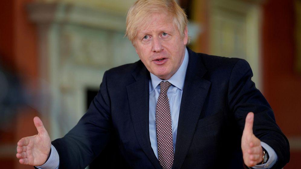 Foto: Boris Johnson, durante su comparecencia de este domingo. (Reuters)