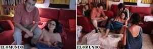 Foto: Sanchez Dragó, 'matrona' en el parto de su mujer