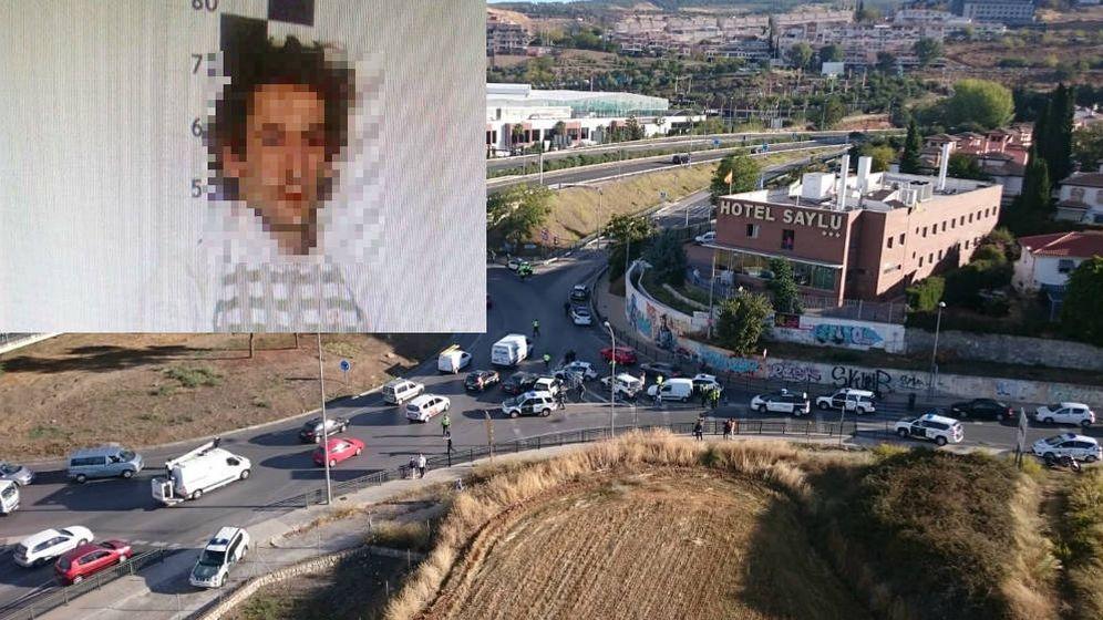 Foto: El detenido por el asesinato del guardia civil en Granada y el operativo en el que ha sido capturado. (EC)
