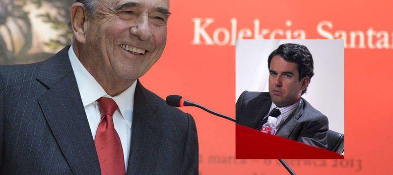Foto: Emilio Botín y su hijo, Javier Botín