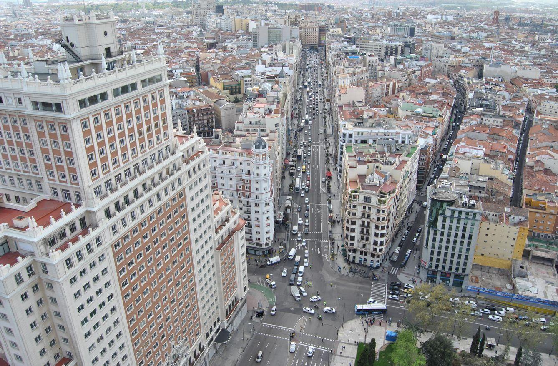 Foto: Vistas de la gran vía de Madrid. (Elena Sanz)