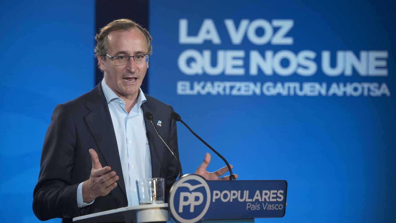 Foto: El candidato del PP a lendakari, Alfonso Alonso (EFE)