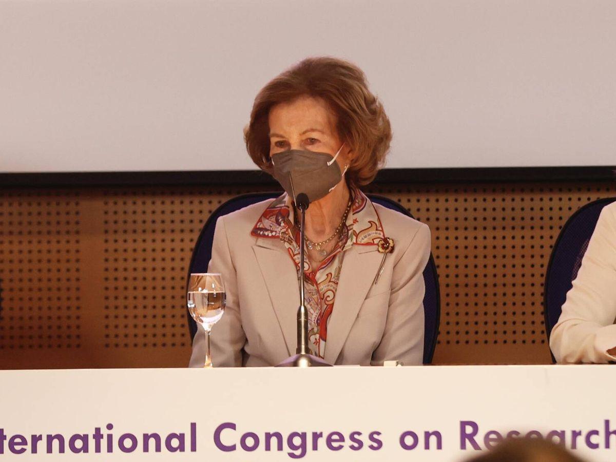 Foto: La reina Sofía, durante el congreso. (Casa de S. M. el Rey)