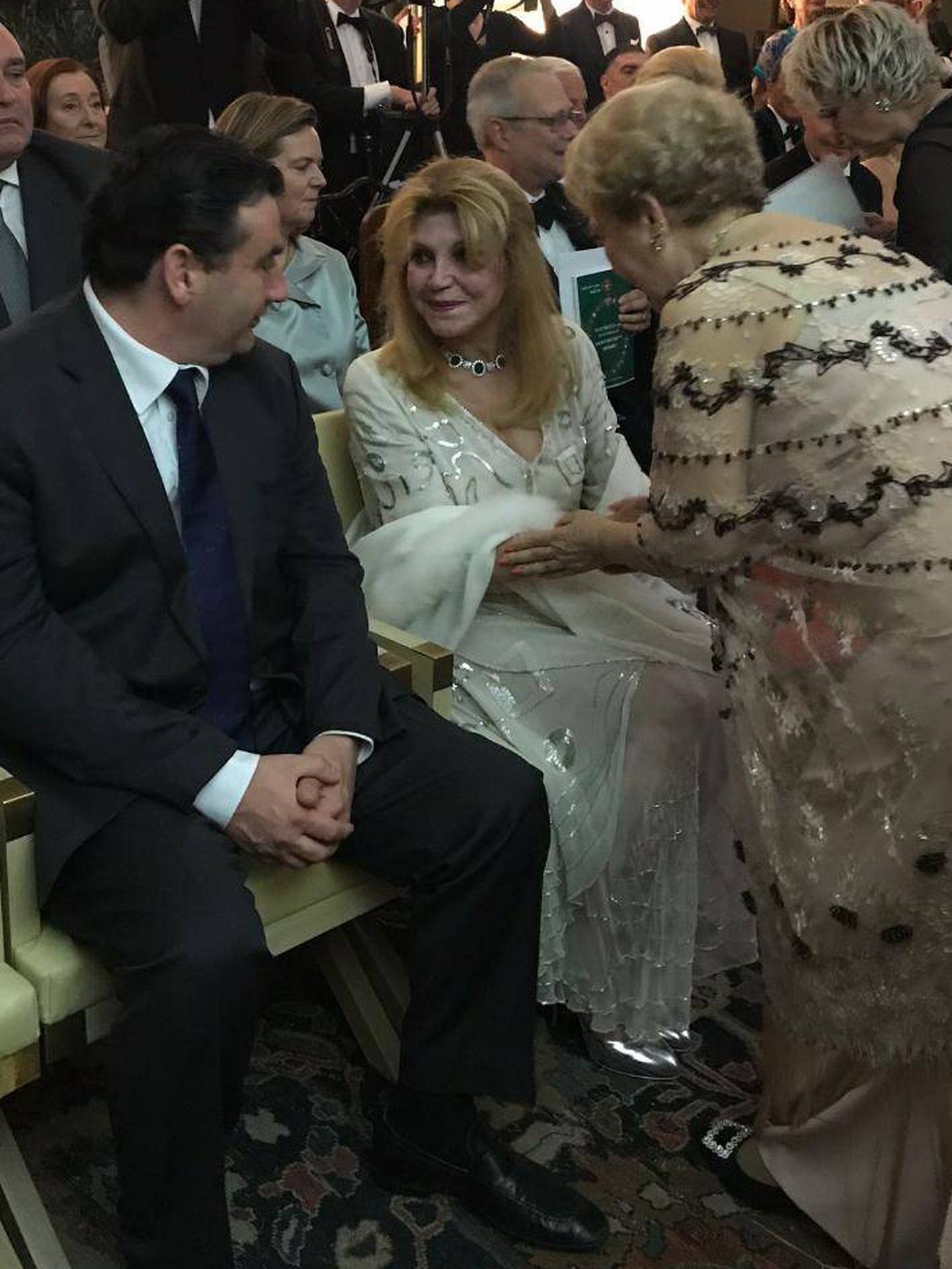 Carmen Cervera con el citado vestido. (Vanitatis)