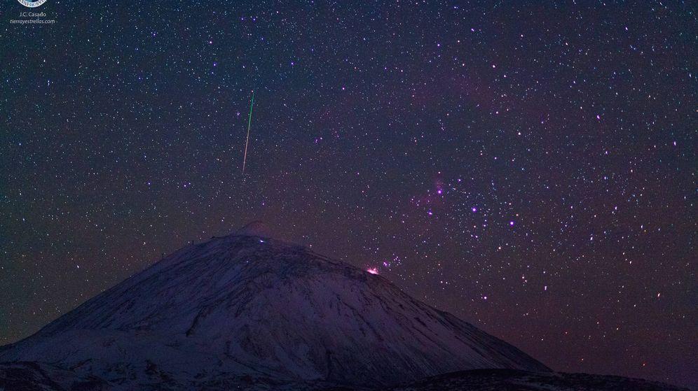Foto: Las Gemínidas, la última gran lluvia de estrellas. (IAC)