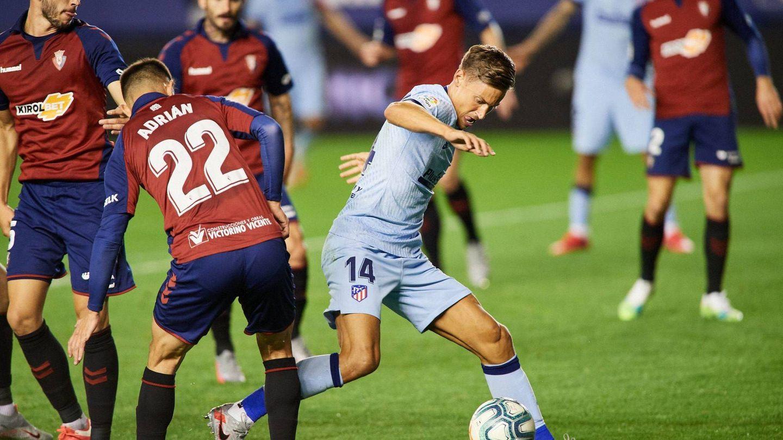 Llorente fue el jugador más destacado del Atlético en la victoria ante Osasuna. (Cordon Press)