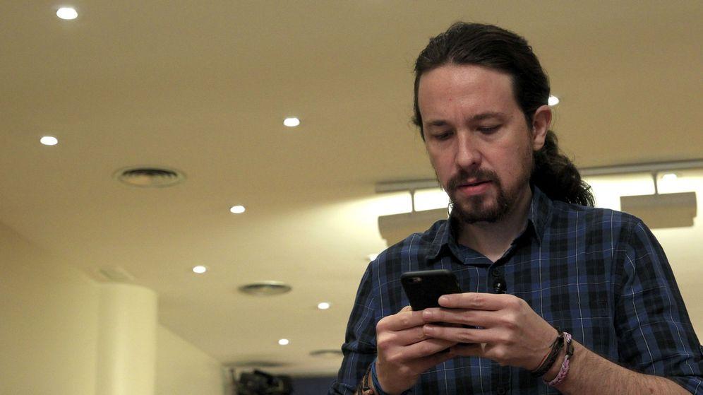Foto: Comparecencia de Iglesias en el Congreso.