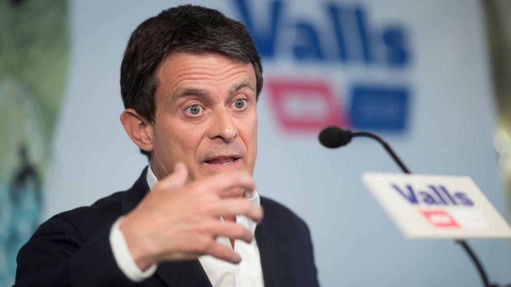 Foto: El ex primer ministro francés Manuel Valls, en una comparecencia en Barcelona.