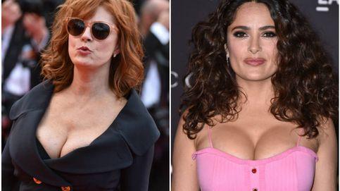 Salma Hayek y Susan Sarandon, duelo de escotes en Cannes