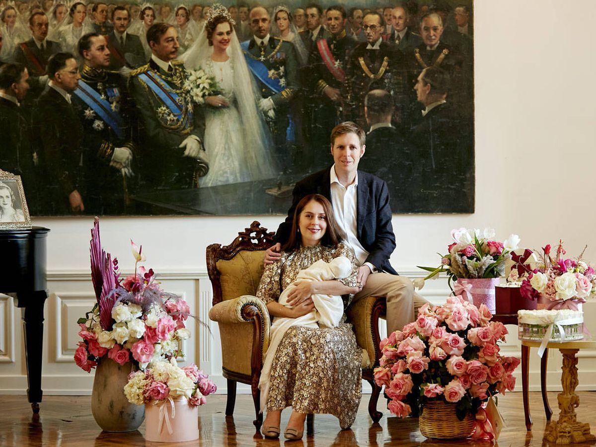 Foto: Los príncipes Leka y Elia de Albania, con su hija Geraldine. (Foto: Royal Court of the Albanians)