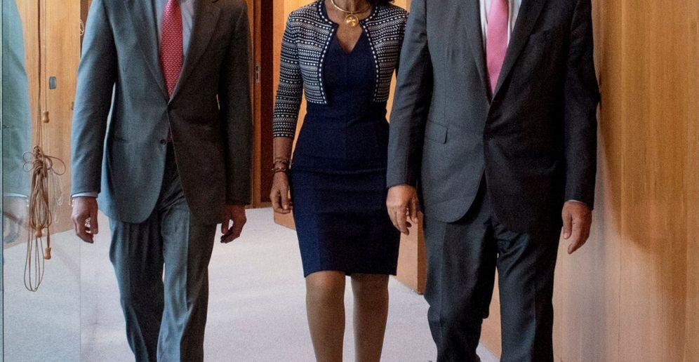 Foto: Andrea Orcel, Ana Botín y José Antonio Álvarez. (Reuters)