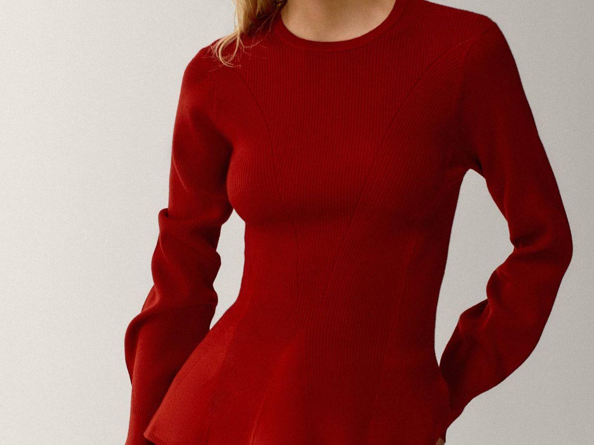Foto: Este jersey de Massimo Dutti estiliza la figura como pocos. (Cortesía)