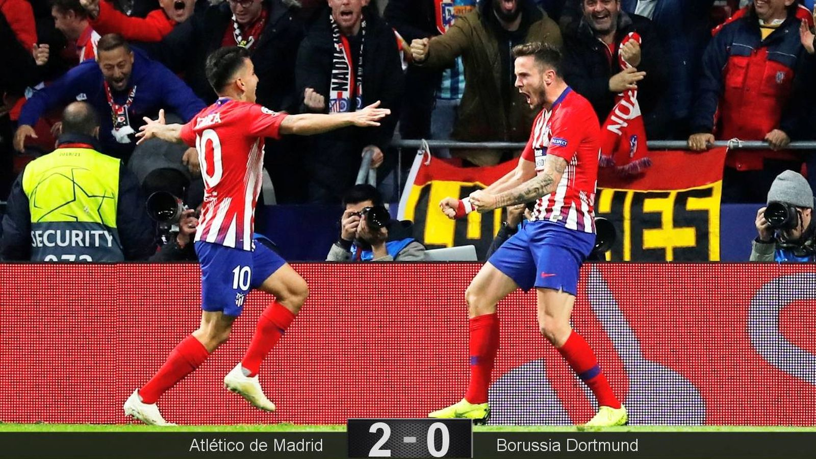 Foto: Saúl marcó el primer gol del Atlético en la victoria ante el Borussia Dortmund. (Reuters)