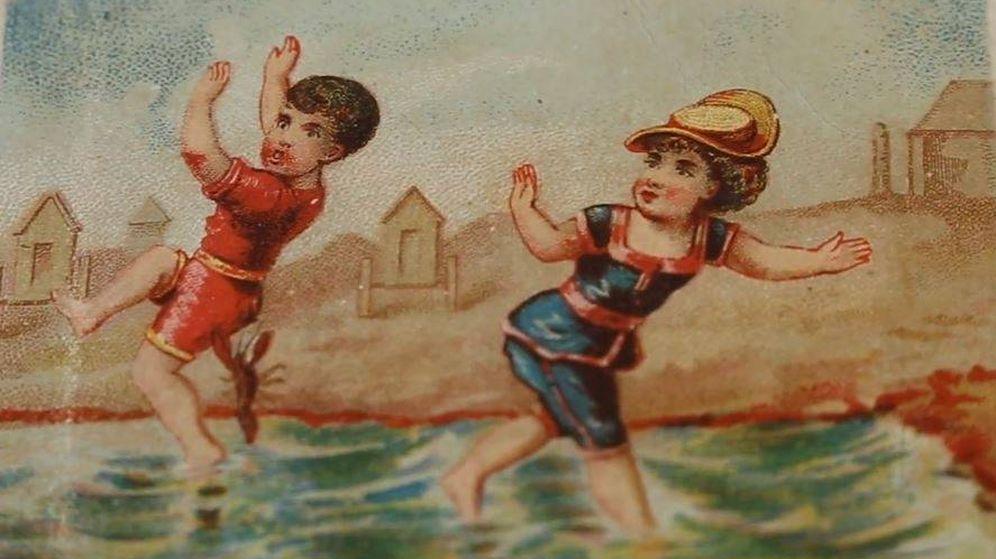 Foto: Una de las ilustraciones que recoge la vida veraniega del siglo XX (BNE)