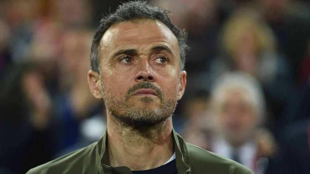 Foto: Luis Enrique durante un partido con la Selección española. (Efe)