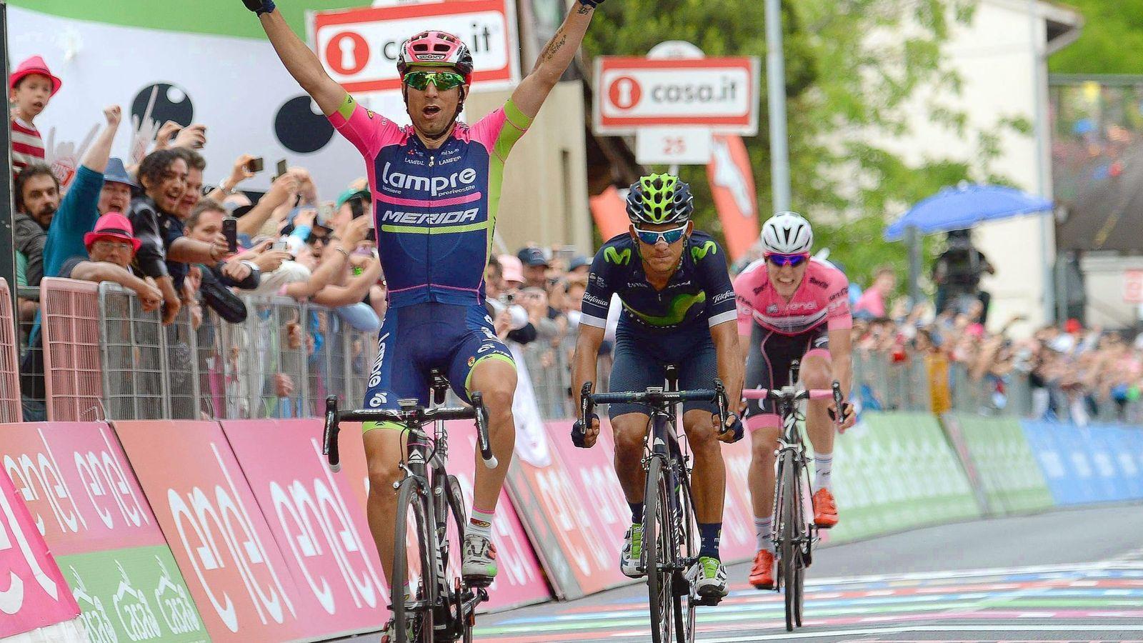 Foto: Ulissi ya ha ganado dos etapas en la presente edición del Giro (Luca Zennaro/EFE)