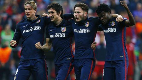 Así celebró el Atlético de Madrid su clasificación para la final de Milán