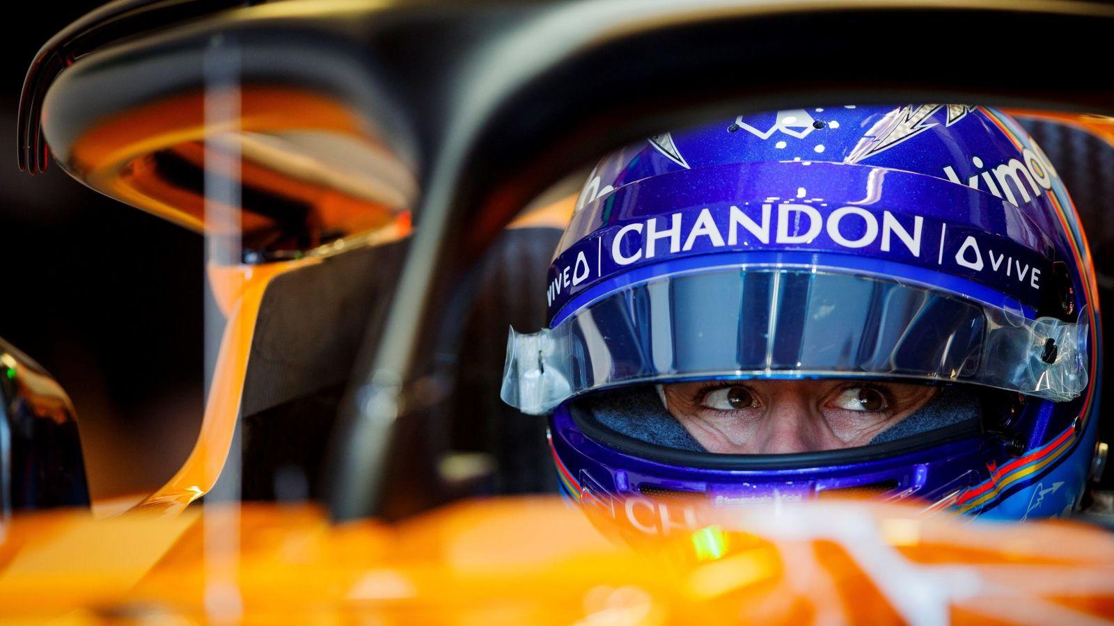 Foto: Fernando Alonso en el Gilles Villeneuve. (EFE)
