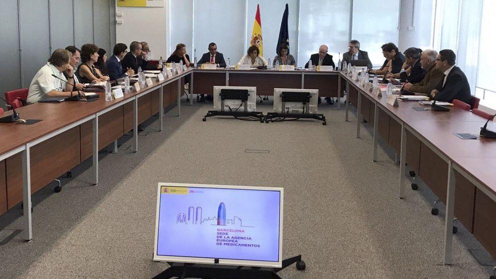 Foto: Reunión del consejo rector de la AEMPS. (EFE)
