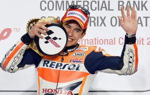 Márquez conquista terreno Yamaha después de sentir el aliento de Rossi