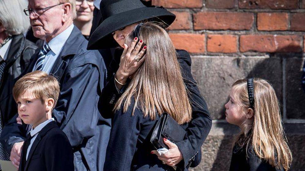 Foto: Mary de Dinamarca, en el funeral. (EFE)
