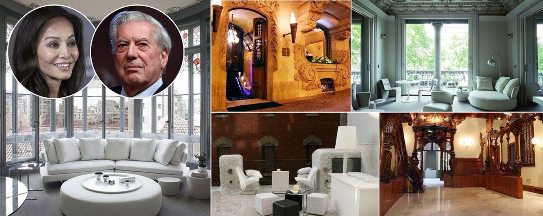 Foto: Isabel Preysler y Mario Vargas Llosa en un fotomontaje sobre el hotel de Barcelona (Vanitatis)