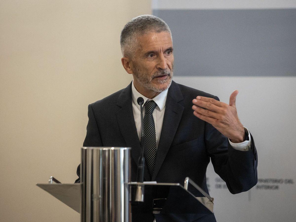Foto: Grande-marlaska, en la IV reunión del plan de lucha contra los delitos de odio. (EFE)