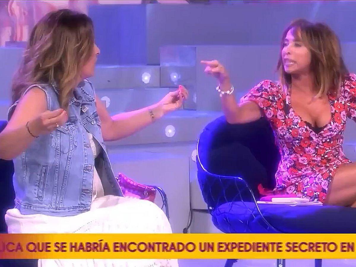Foto: Laura Fa y María Patiño, en 'Sálvame'. (Telecinco)