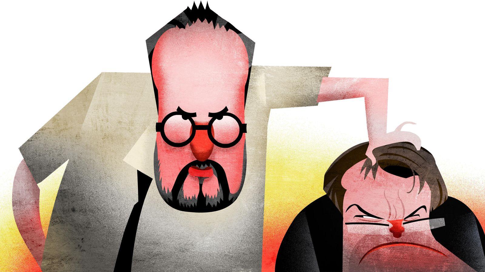 Foto: Caricatura de Antonio Baños, líder de la CUP y Artur Mas, presidente de la Generalitat de Cataluña en funciones.