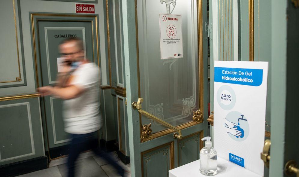 Foto: Teatro Lara de Madrid, ya reabierto con medidas de seguridad contra el covid. (EFE)