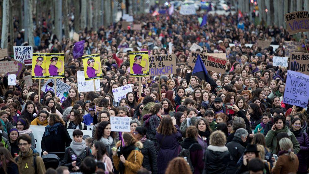 Foto: Manifestación por el Día Internacional de la Mujer. (EFE)