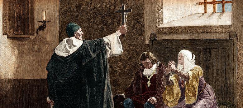 Foto: Torquemada y los Reyes Católicos, principales perpetradores de la expulsión de los judíos. (Corbis)