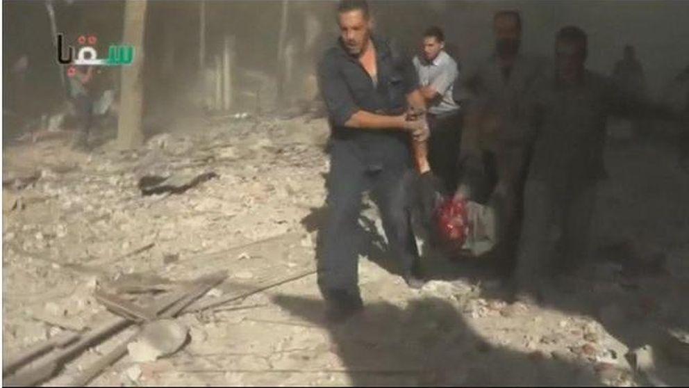 Así se viven los segundos posteriores a un bombardeo en Siria