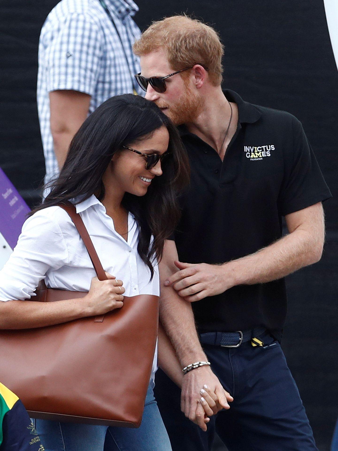 La pareja, en una de sus primeras apariciones públicas tras conocerse su relación. (Reuters)