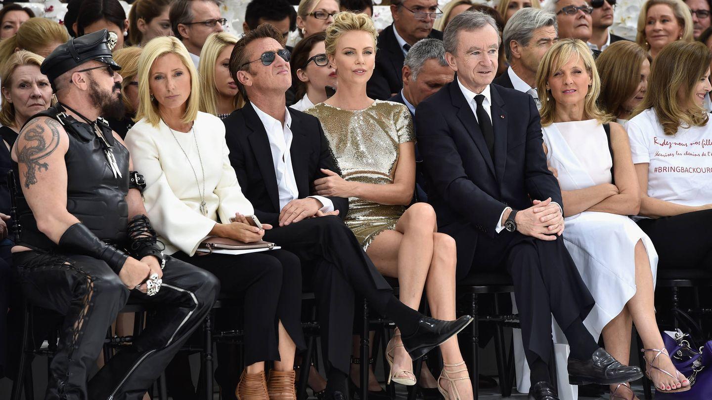 Marie-Chantal Miller, en el 'front row' de un desfile de Christian Dior. (Getty)