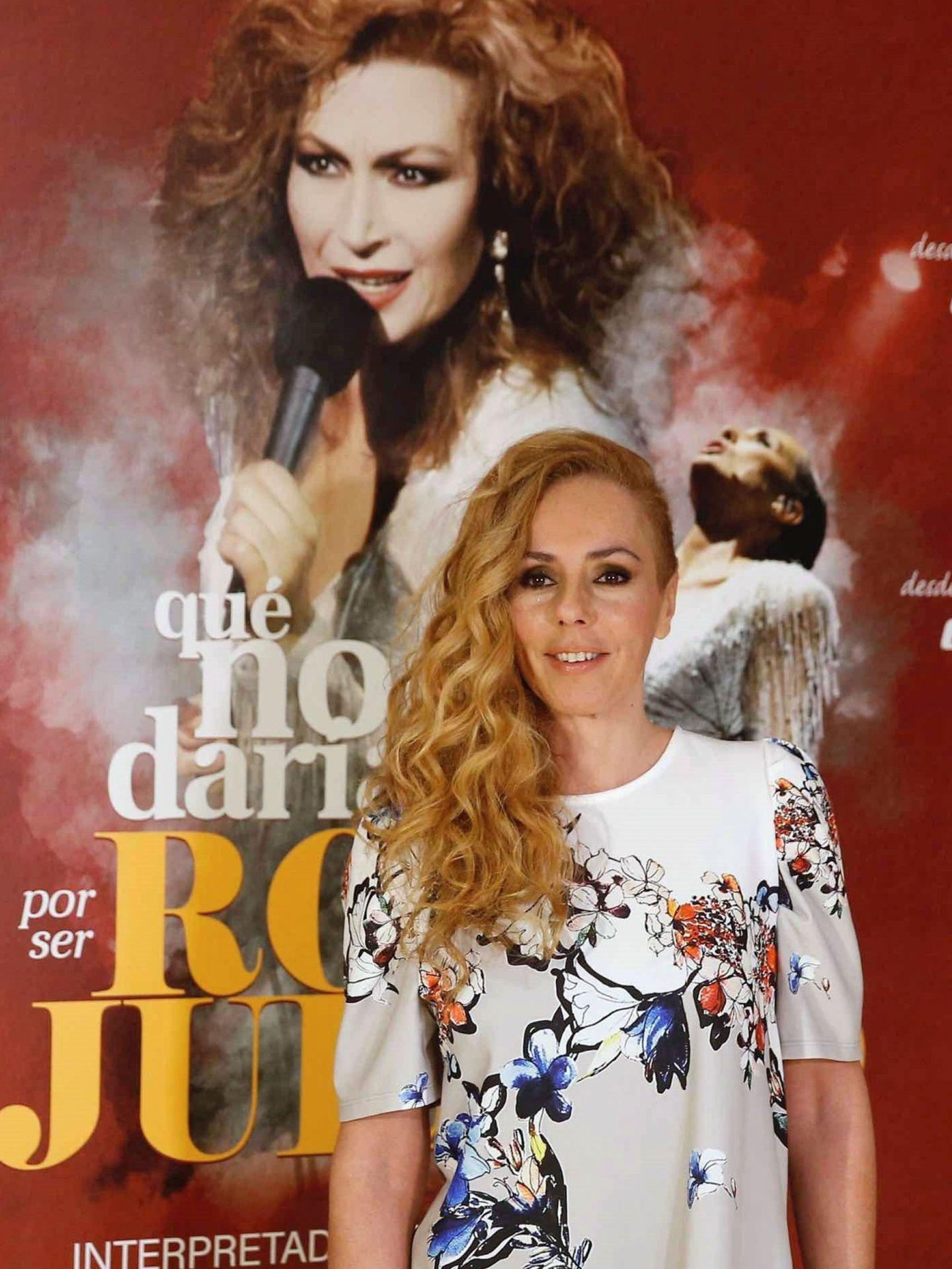 Rocío Carrasco, durante la presentación del musical 'Qué no daría yo por ser Rocío Jurado'. (EFE)