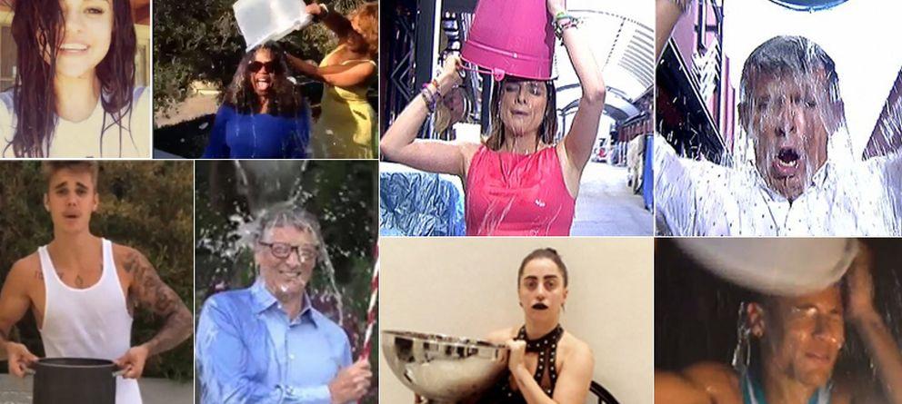 Foto: Los famosos se mojan por la esclerosis