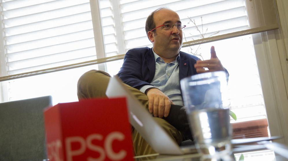 Foto: Miquel Iceta, secretario general del PSC, en un momento de la entrevista. (Edgar Melo)