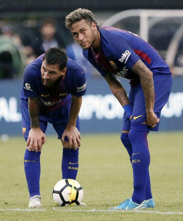 Foto: Messi y Neymar en el partido frente a la Juve en East Rutherford (EEUU). (Reuters)