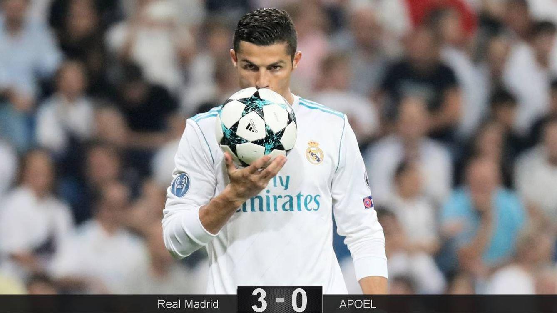 Foto: Cristiano volvió a besar la red. (Reuters)