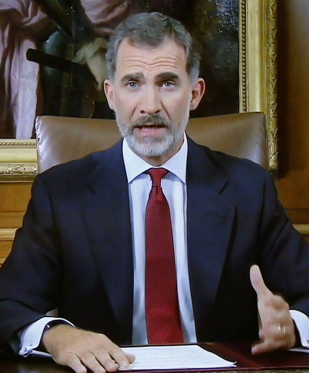 Foto: El Rey Felipe ha dirigido un mensaje a todos los españoles por la situación en Cataluña (EFE)