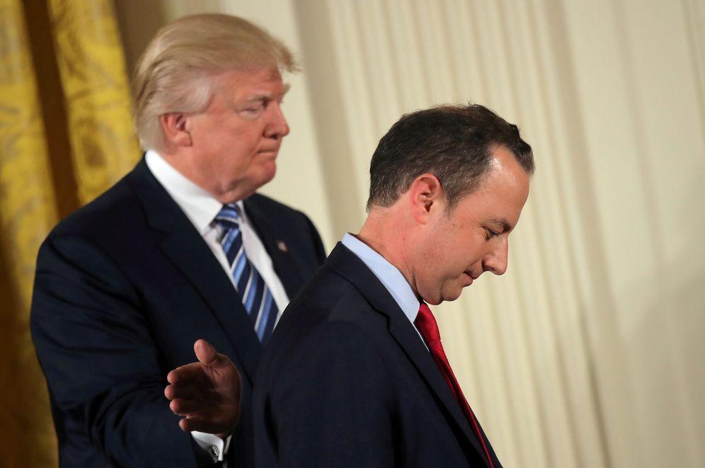 Foto: Foto de archivo del presidente de EEUU, Donald Trump, y el cesado jefe de Gabinete, Reince Priebus. (Reuters)