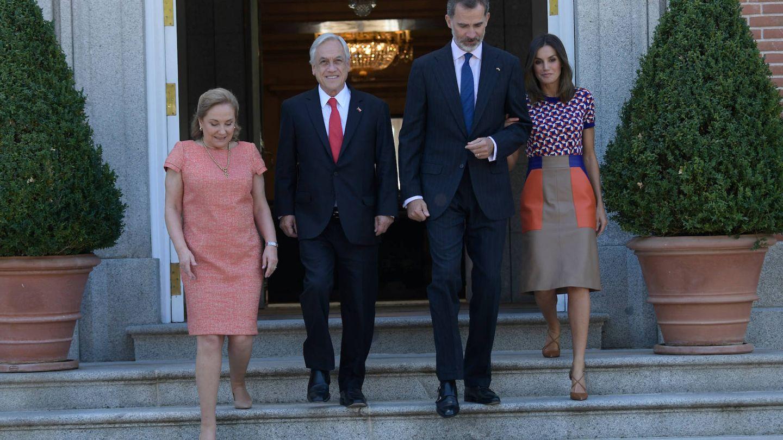 Cecilia Morel, Sebastián Piñera, el rey Felipe y la reina Letizia. (Limited Pictures)