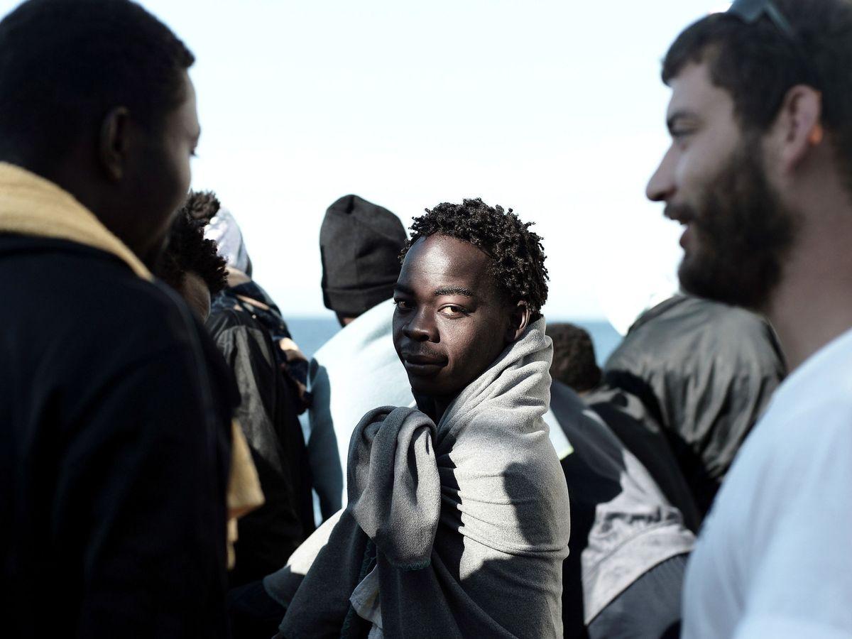 Foto: Migrantes llegando a España en julio de 2018. (EFE)