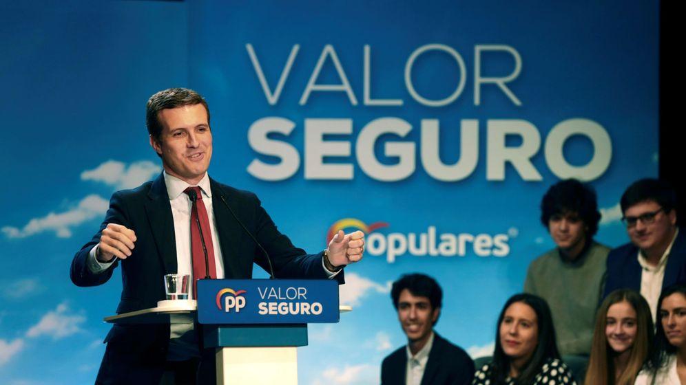 Foto: Pablo Casado este sábado en Salamanca. (EFE)